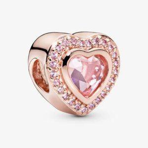 🎸📿Pandora Sparkling Pink Heart Charm authentic